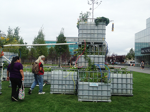 Arctic Food Forest is a regenerative, edible perennial food forest for the Anchorage Museum. Planted with Zone 5 and 6 foods to ready for a warming climate in Alaska, this project is by Mary Mattingly.