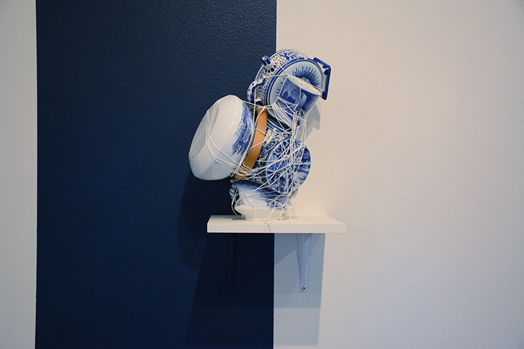 Objects Unveiled (Cobalt) is an exhibition by Mary Mattingly at University of Michigan's Institute for the Humanities.