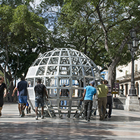 Pull is a sculptural ecosystem by Mary Mattingly with the Museo Nacional de Bellas Artes de la Habana and the Bronx Museum of the Arts